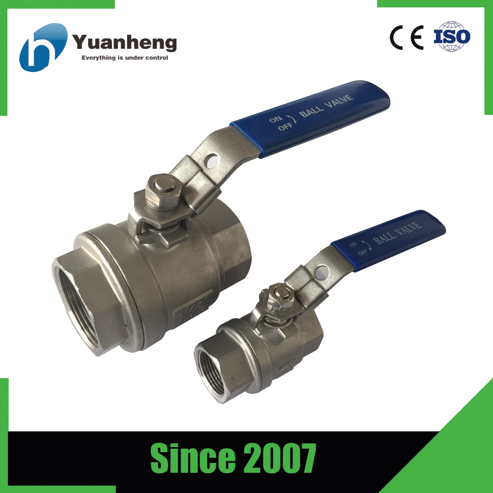 2PC stainless steel full bore npt threaded ball valve