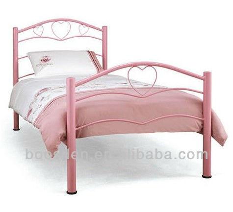 cheap metal kids theme bed, cheap cabin bed, heart shape metal bed BSD-454065