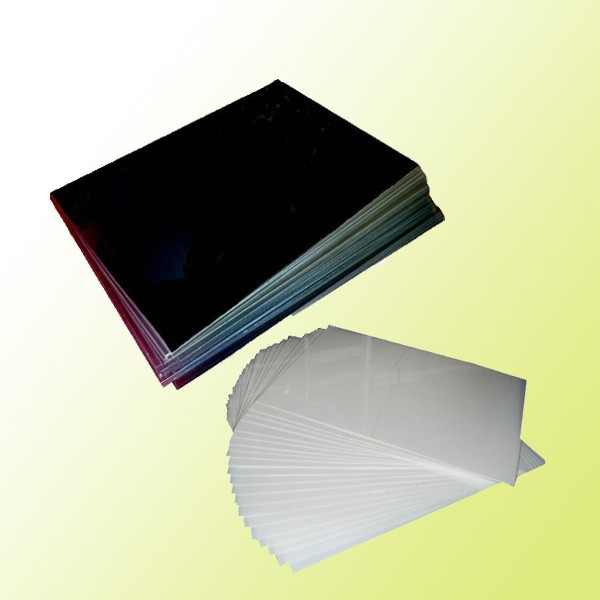 Black and white plastic pvc photo book hard page
