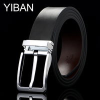 Men buckle simple fashion personality all-match durable leather belt smooth business