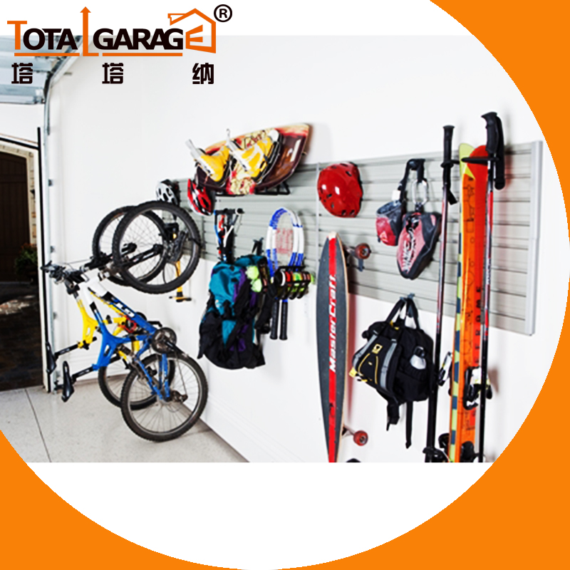 Hot sale Garage Wall Storage System PVC Slatwall <strong>Panel</strong>