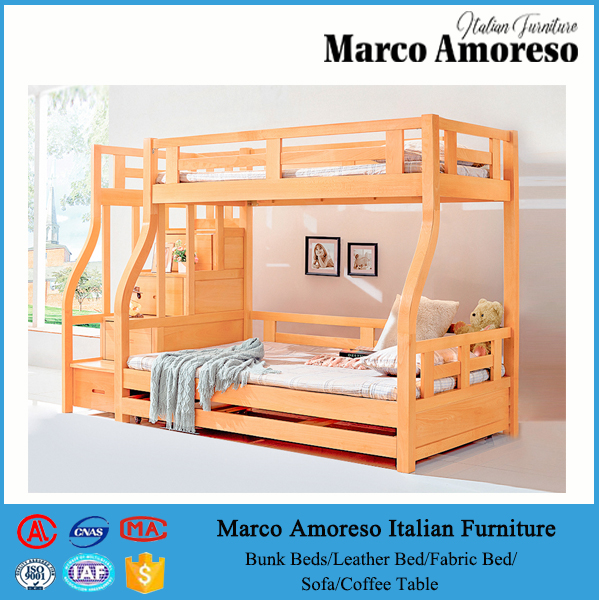 3 levels tier bunk bed bunk bed with full bed underneath triple bunk bed