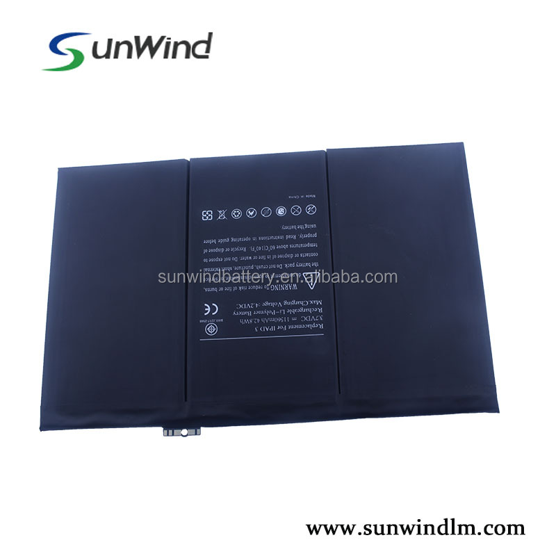 Li-polymer replacement standard battery 3.7V 11560mah for ipad 3