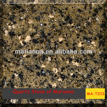 purchasing polished amber solid surface quartz stone MA-T203 agate dining room countertops