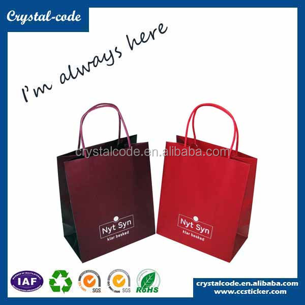 China directly sell high quality fsc branded paper storage bag