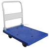 Foldable Platform Hand Truck with 5-inch PU Wheel and Non-slip PVC Mat