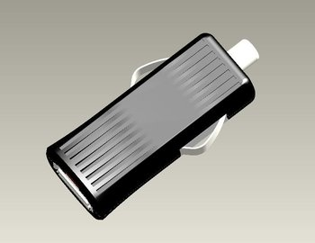 Thumb-sized In-car Charger with 12 to 24V DC Input Voltage and 5V DC Output