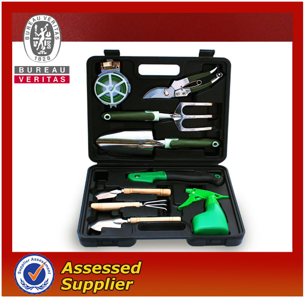 garden tool and equipment in case, 9 pcs garden tool set