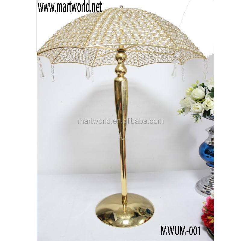 Umbrella shaped crystal wedding centerpiece for wedding decoration(MWUM-001)