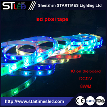 Ws2811 Led Pixel tape Dc12v 5050 30leds/m 10ics/m 5m/roll Digital Stirp Individually Addressable LED strip Lighting