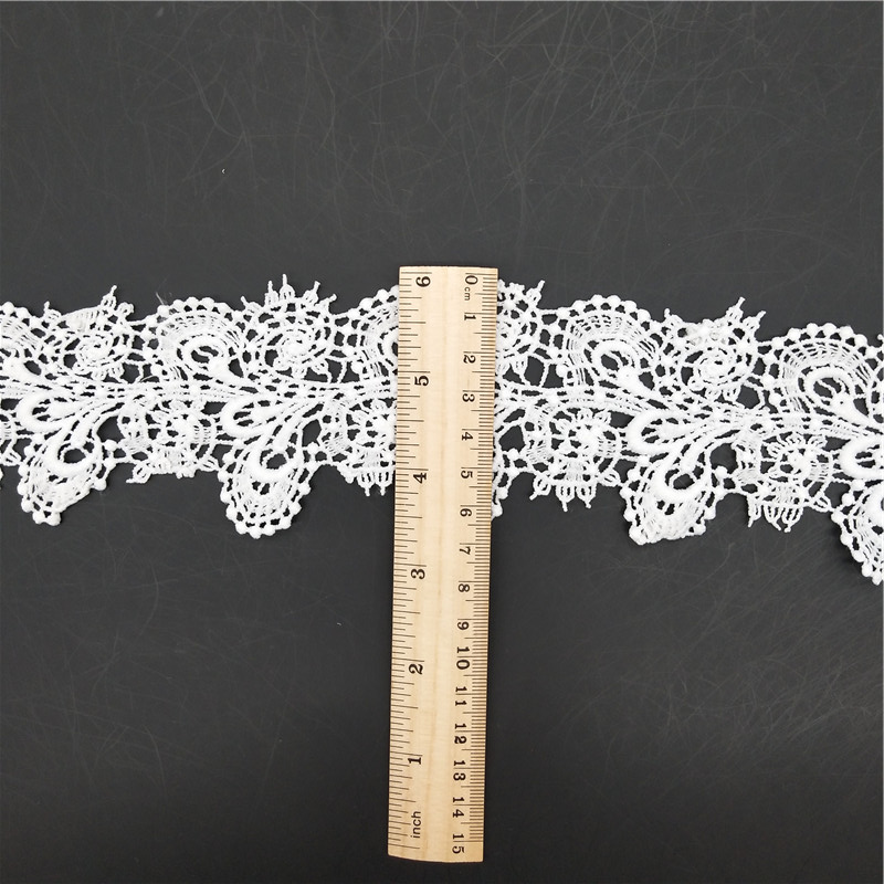 Chemical lace design sewing lace trim/white lace trim