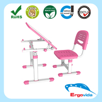 School Desk Specific Use Steel Material Kid Study Table and Chair