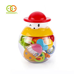 High quality funny baby rattles teether infant music toys hand bell