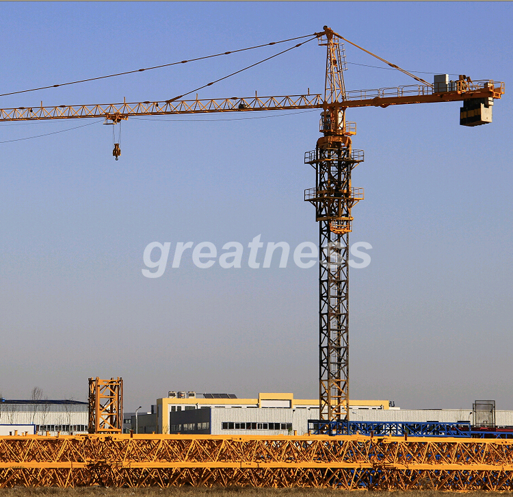 self erecting tower crane,tower crane free standing height/6t tower crane price
