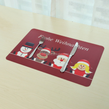 Full color UV printing 2018 Newest christmas pp placemat