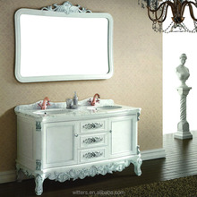 WTS143JO 60'' modern double sink used bathroom vanity cabinets in white color