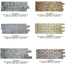 Hot Sell Ornaments Polyurethane High Quality Beautiful PU Wall Brick Exterior stone veneer panel