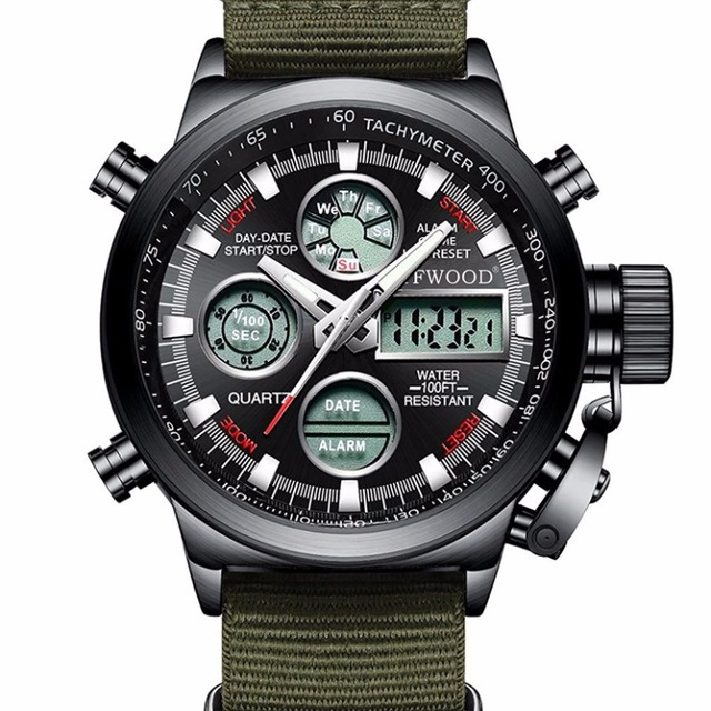 2018 Trending products Chronograph 3ATM water proof logo customized military watches men wrist