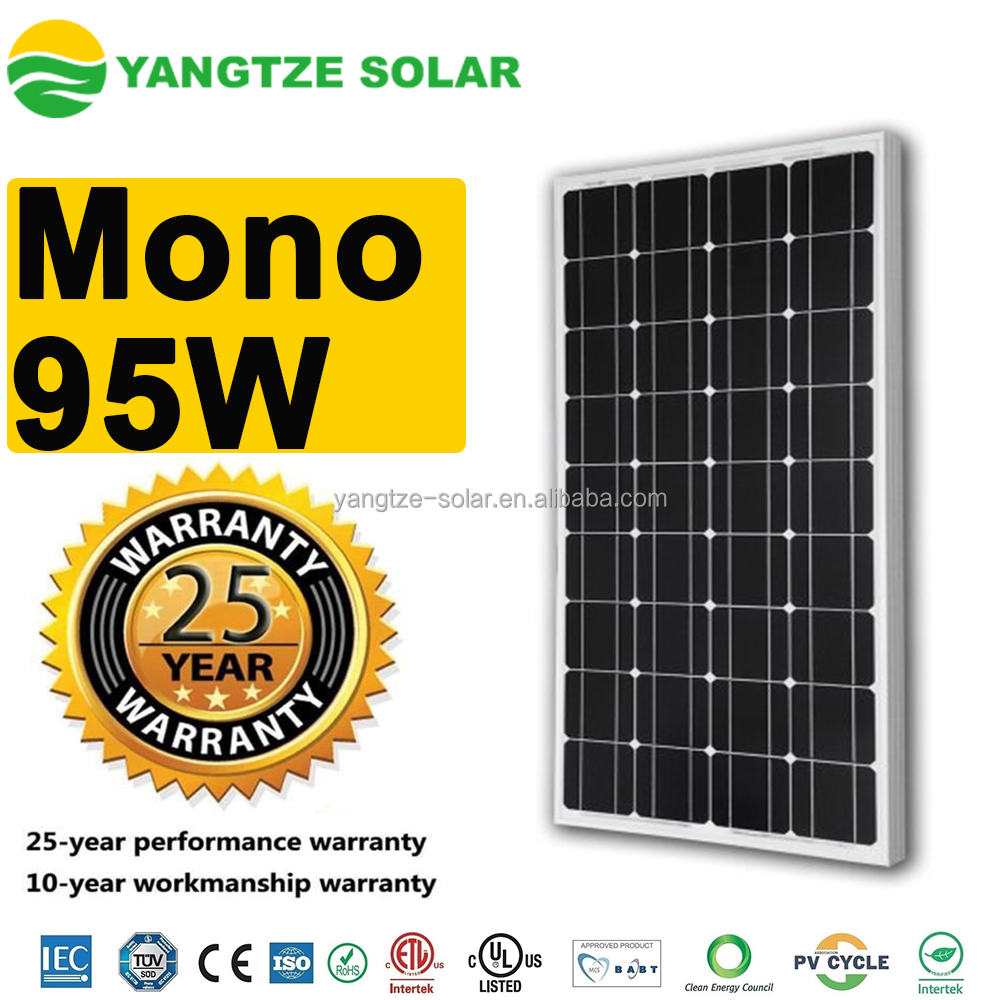 Alibaba hot sale best mono solar panel 95w