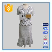 Women Lace Blouse And Long Skirt Elegant Retro Skirt Suits