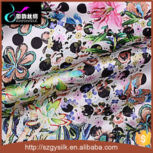 custom digital print 19mm 100% natural mulberry silk fabric