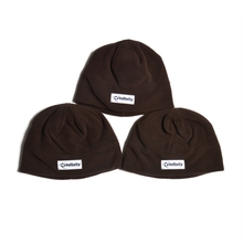 solid color custom my logo on polar fleece beanie hat/fleece hat