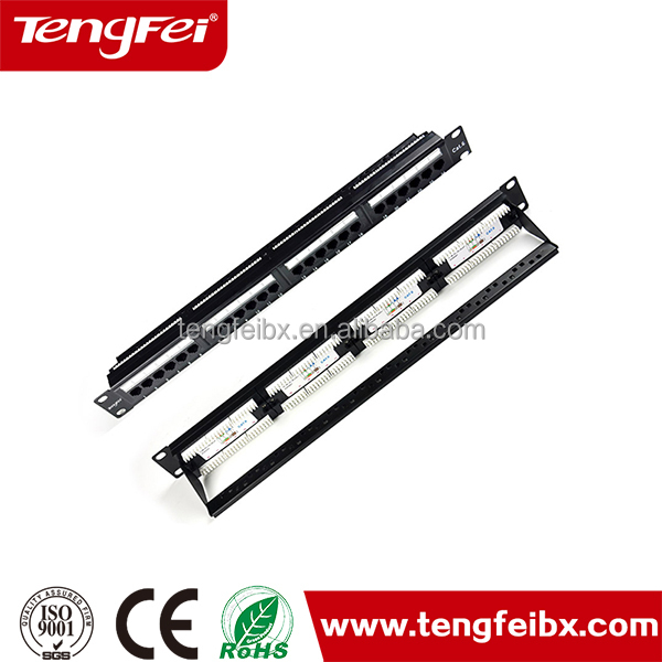 China supplier TFP2024 19 Inch 24 port FTP cat6 patch panel