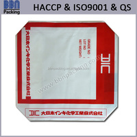 printed pe plastic packing bag with valve