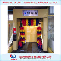 mobile automatic rollover car wash machine with sponge brush high quality