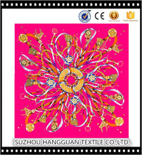 Custom Design High Quality Printing Fashion 100% Silk Scarf Square Shawl