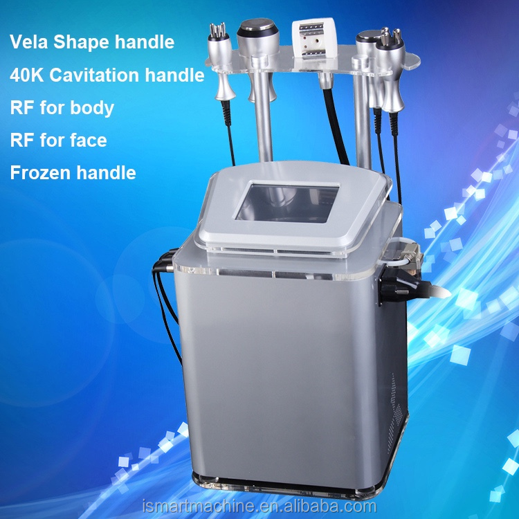 Portable Vacuum+auto-roller RF cavitation slimming machine for both body and face