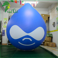 Funny Customized Printing Inflatable Water Drop Balloon / Outdoor Large Advertising PVC Roof Top Ballon