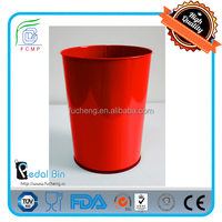 5L 12L specially smart eco friendly open top red garbage can for outdoor