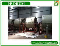 China dyeing pp leather drum for ostrich skin
