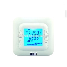 Cheap price self-extinguishing blue backlight room thermostat