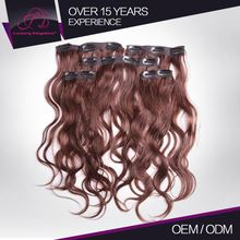 Long Life Full Cuticle Clip In Hair Russian Double Weave Hair Extensions