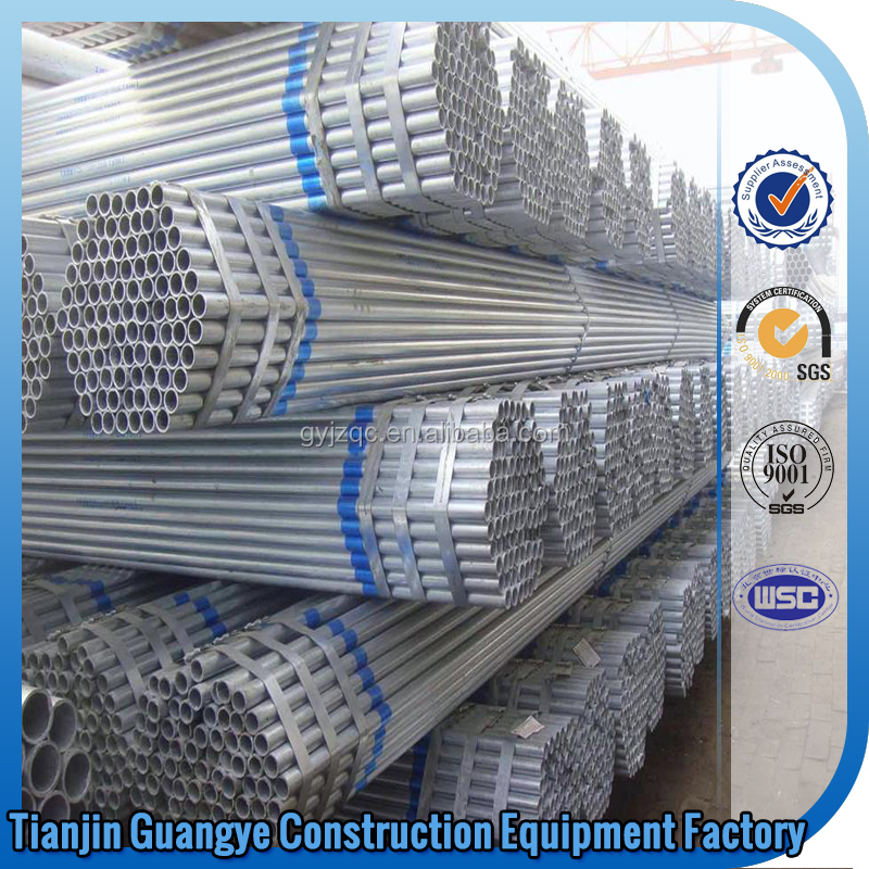 Tianjin GuangYe ERW welding hot dipped galvanized round steel pipes /stainless steel welded pipe/used seamless steel pipe