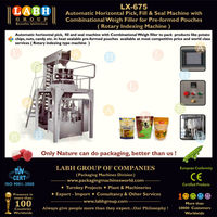 Automatic Rotary Bag packaging equipment for spout bags for Candies Lollipop and other confectionery products