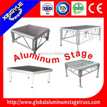 aluminum 1.22x1.22m plywood mobile stage