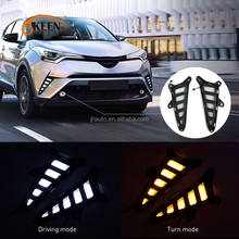 KEEN Good Quality DC 12V led daytime running light for Toyota CHR 2016-2017 with amber turn signal DRL
