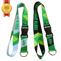 Camouflage satin material can be used for camping life Lanyard keychain