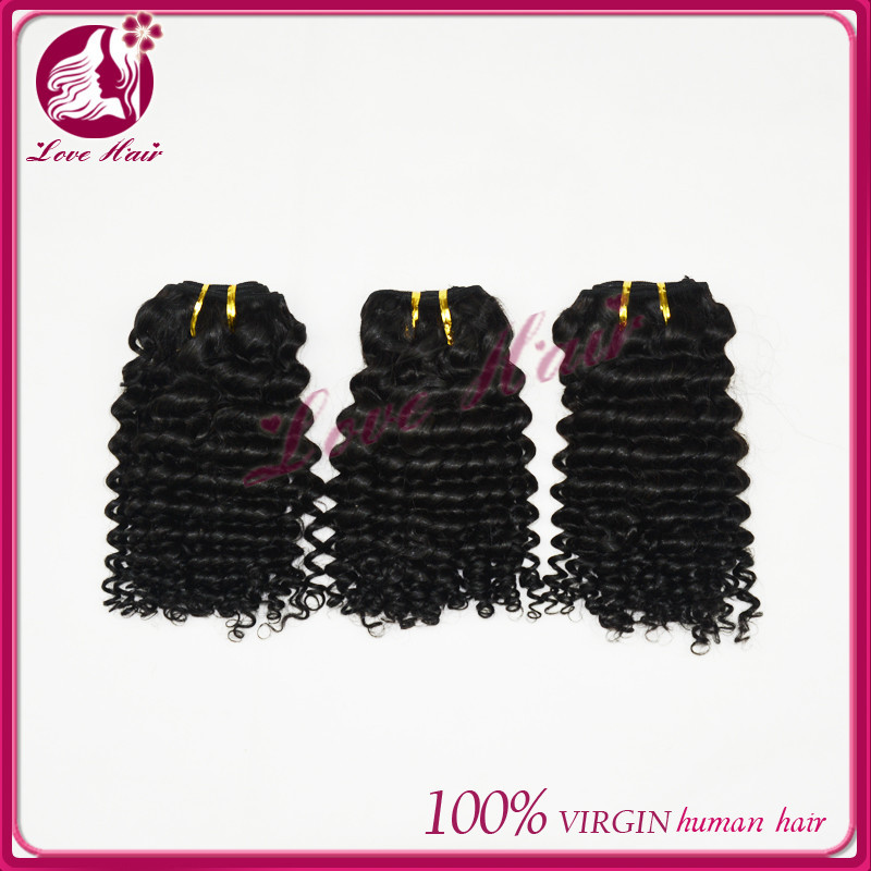 qing dao love hair Best selling high quality more cheaper color deep curl weave deep curl human hair