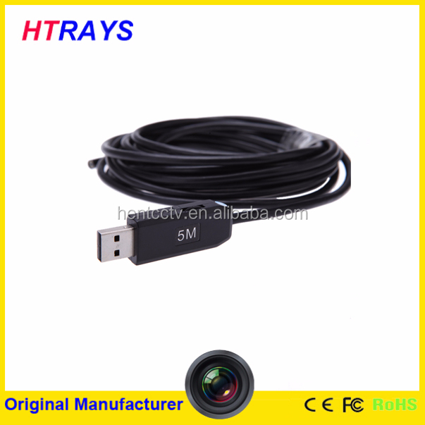 5M 5.5mm widely use waterproof Borescope snake Inspection drain camera USB Endoscope tube