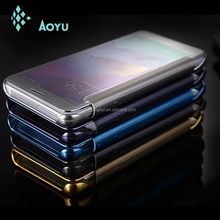 For Samsung Galaxy Note 5 metal mirror case aluminum+acrylic metal bumper mobile phone case mirror back cover