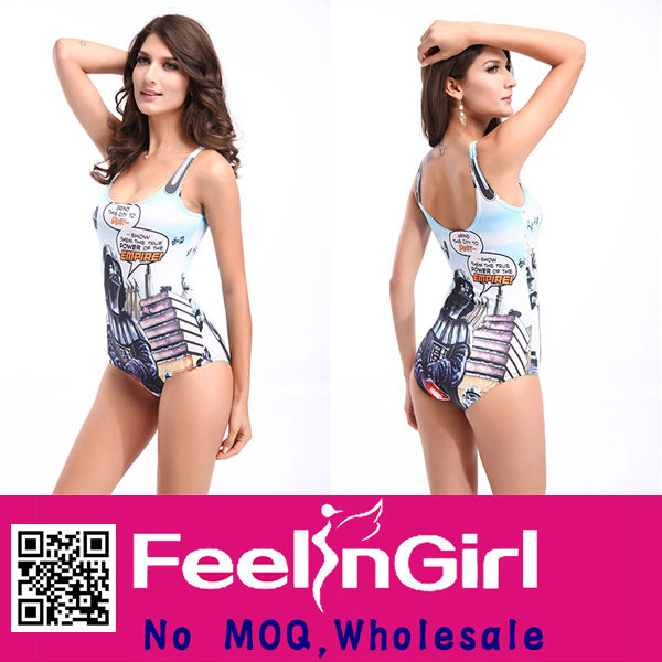 Wholesale thong high cut lycra one piece swimsuit in stock
