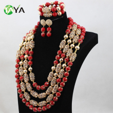 High fashion african beads for jewelry making weeding jewelry set
