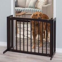 Dark espresso finished wood dog play pen