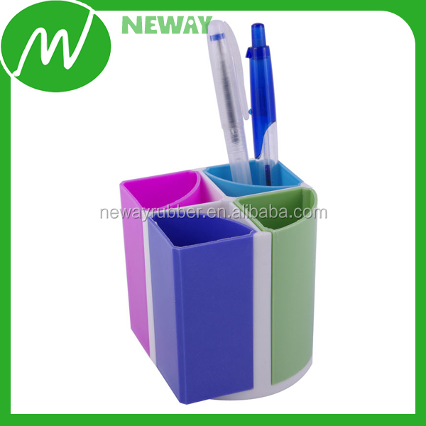 4 Trays Colorful Plastic Pencil Holder