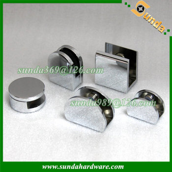 various designs zinc alloy glass shelf support