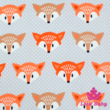Wholesale Customizable Lovely Fox Printed Clothes Material Fabric For Making Baby Clothes